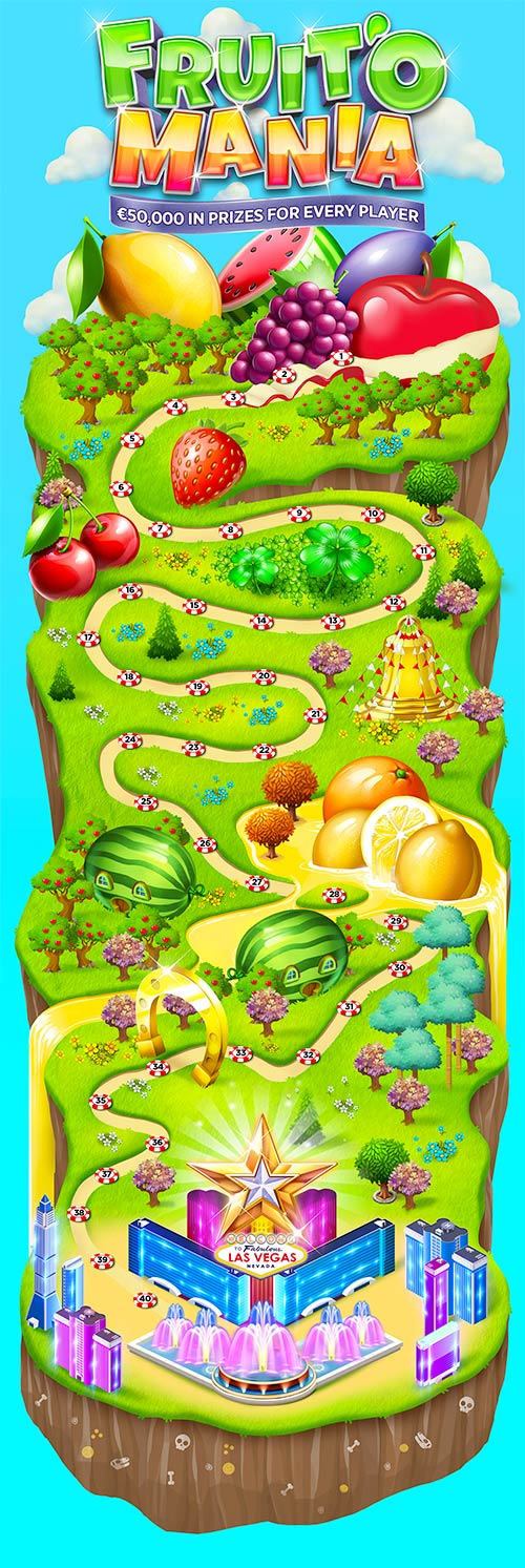 Well this is a long picture. Maybe the longest I have ever seen. Fruit'O Mania is now on at BitStarz!