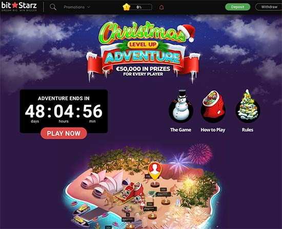 Christmas Level Up Adventure at BitStarz Casino
