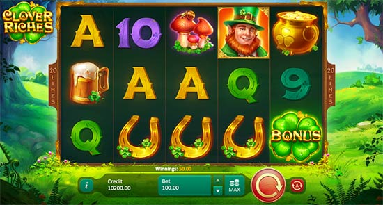 Clover Riches slot game from Playson