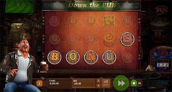 Down the Pub bonus game