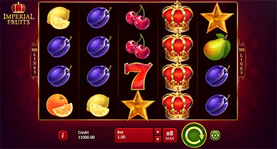 Imperial Fruits slot game from Playson