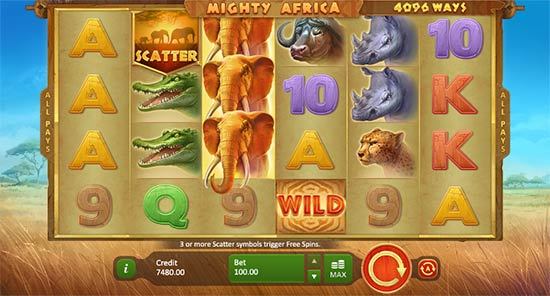 Mighty Africa: 4096 Ways slot game