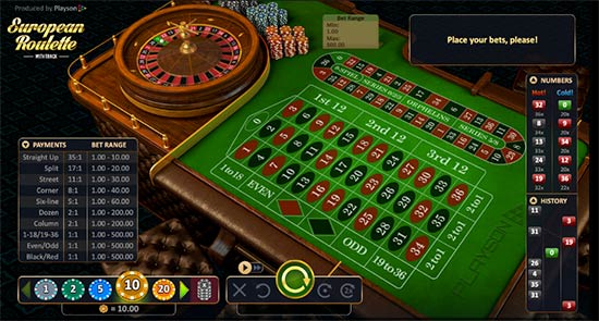 European Roulette from Playson