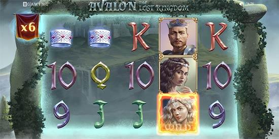 Avalon the Lost Kingdom Bonus Game.