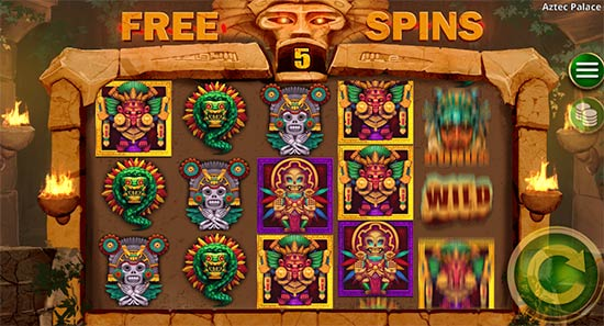 Aztec Palace slot bonus game.