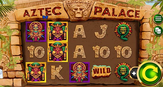 Aztec Palace slot game from Booming Games.