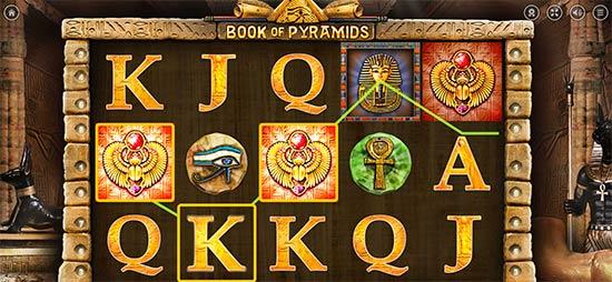Book of Pyramids slot bonus game.