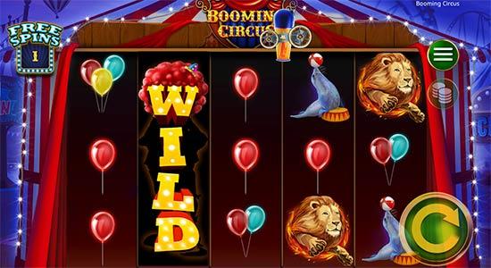 Booming Circus bonus game.