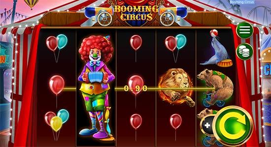 Booming Circus full reel wild.