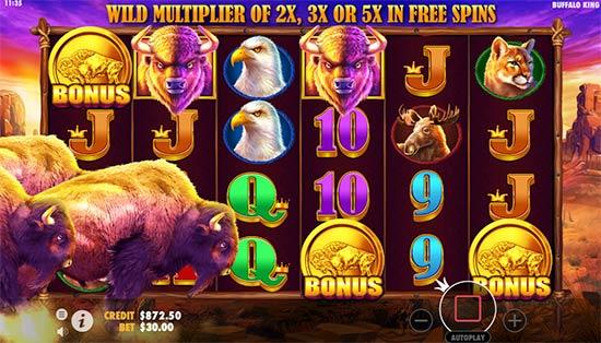 Buffalo King Bonus Game.