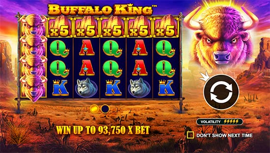 Buffalo King maximum win.