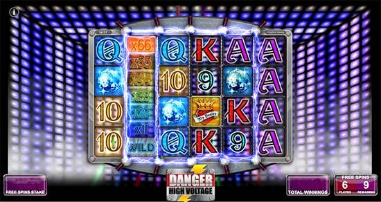 Danger High Voltage slot bonus game.