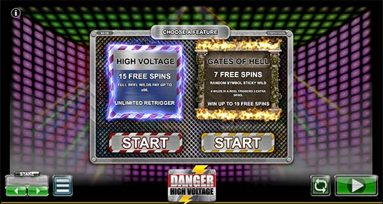 Bonus Game in Danger High Voltage.