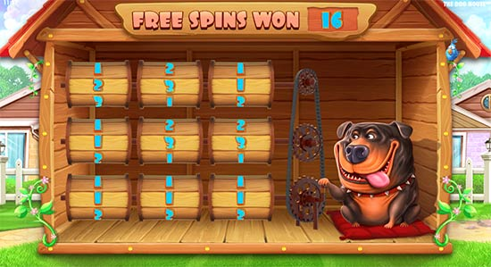 The Dog House Bonus Game.