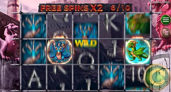 Dragon's Chest Bonus Game.