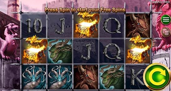 Bonus Game in Dragon's Chest.