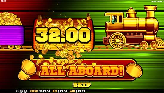 Gold Train slot bonus game.