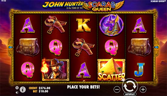 John Hunter & the Tomb of the Scarab Queen slot.