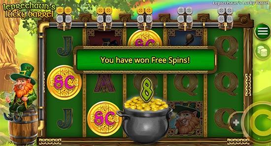 The Leprechaun's Lucky Barrel bonus game