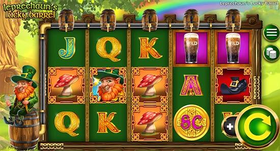 Leprechaun's Lucky Barrel slot game