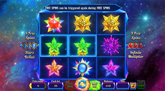 Magic Stars 9 slot game from Wazdan
