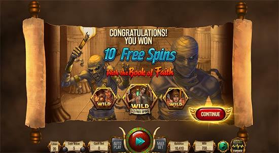 Relic Hunters bonus game