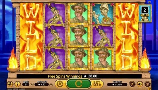 Bonus Game of Show Me The Mummy slot game.