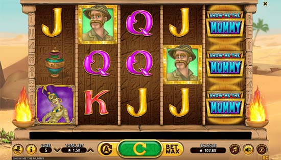 Show Me The Mummy slot game