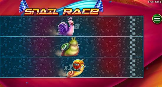 Snail Race bonus game.