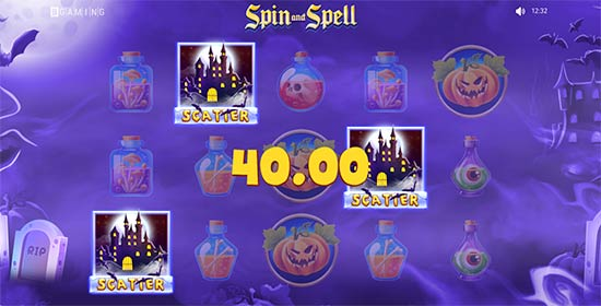 Spin and Spell bonus game.