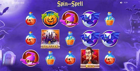 Spin and Spell slot from BGaming