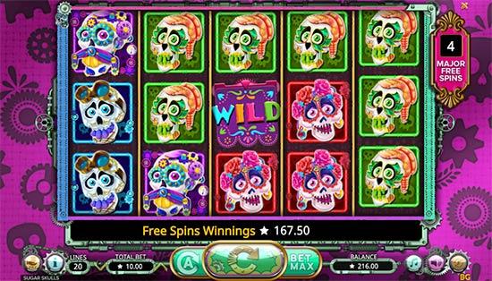 Sugar Skulls bonus game.