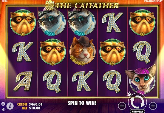 The Catfather slot from Pragmatic Play.