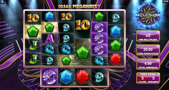 Who Wants To Be a Millionaire slot bonus game
