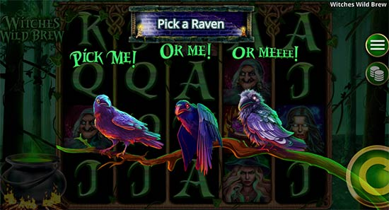 Witches Wild Brew bonus game.