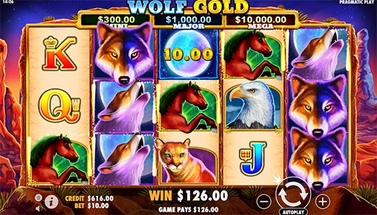 Wolf Gold slot from Pragmatic Play.