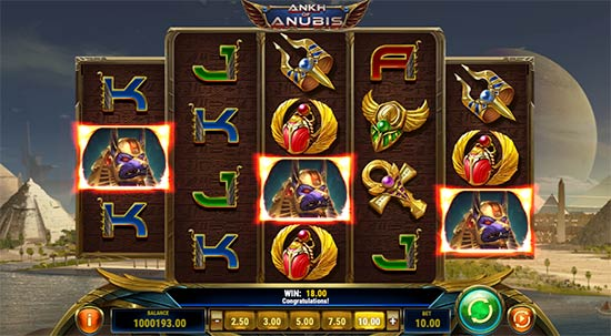 Ankh of Anubis slot from Play n' GO.
