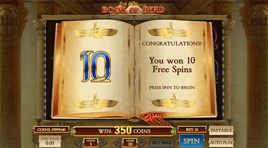 Rich Wilde and the Book of Dead slot Play'n GO
