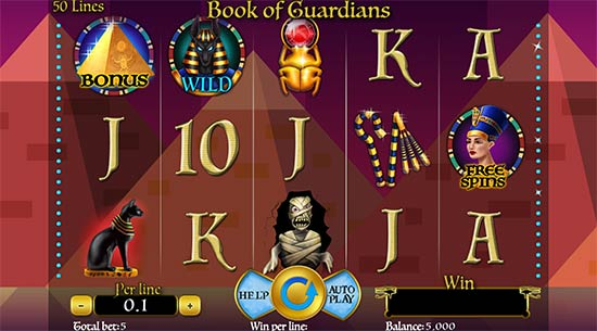 Book of Guardians slot by Spinomenal