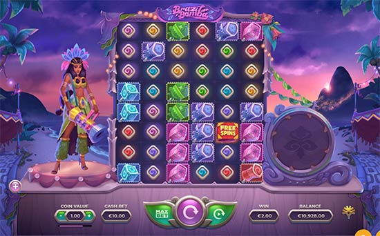 Brazil Bomba slot game by Yggdrasil.