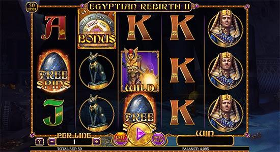 Egyptian Rebirth II slot by Spinomenal