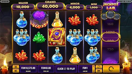 Jackpot Lab slot by Platipus.