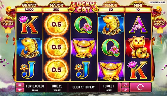 Lucky Cat slot by Platipus.