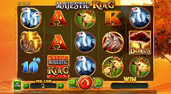 Majestic King slot by Spinomenal.