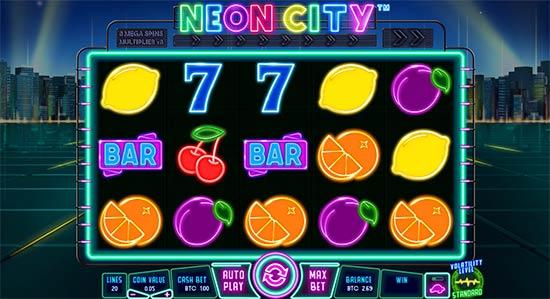 Neon City slot.