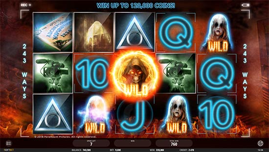 Paranormal Activity slot by iSoftBet.