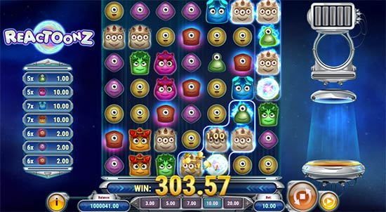 Reactoonz slot by Play n' GO.
