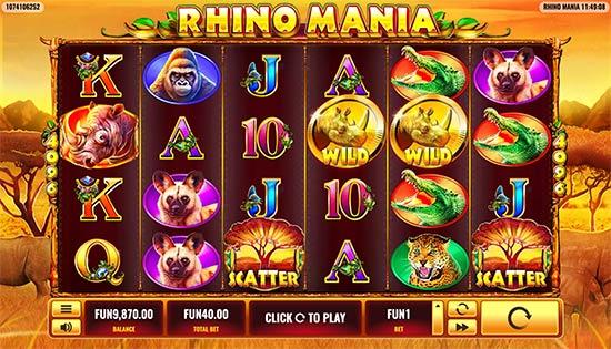 Rhino Mania slot by Platipus.