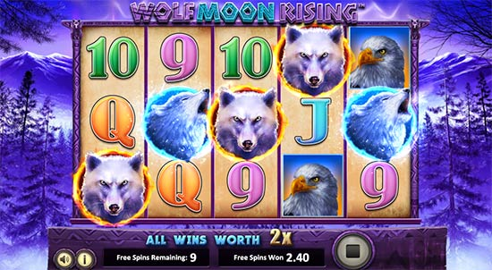 Wolf Moon Rising slot from Betsoft.