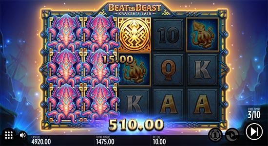 Beat the Beast Kraken's Lair slot by Thunderkick.